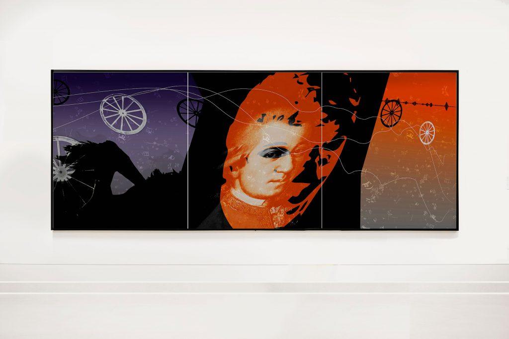Amadeus-Triptychon (Kutsche)  3 x B 120 cm x H 140 cm